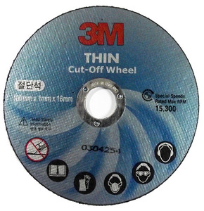 3M 4인치 절단석 THIN CUT-off wheel(50개)